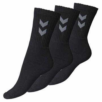 Hummel Base sock unisex strømpe i sort 3. pak