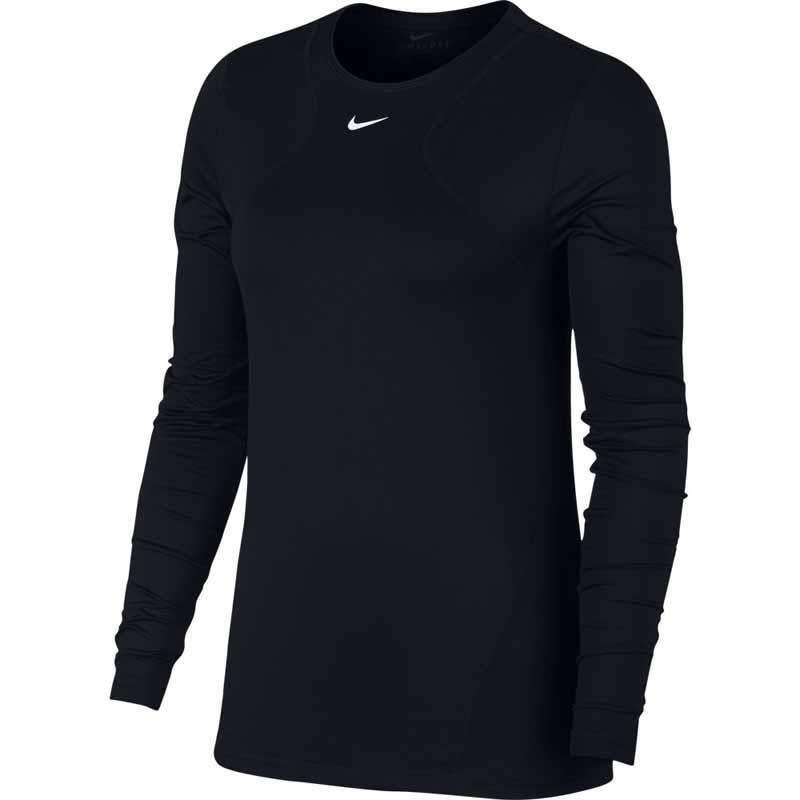Nike Pro All Over Mesh Langærmet t shirt til kvinder