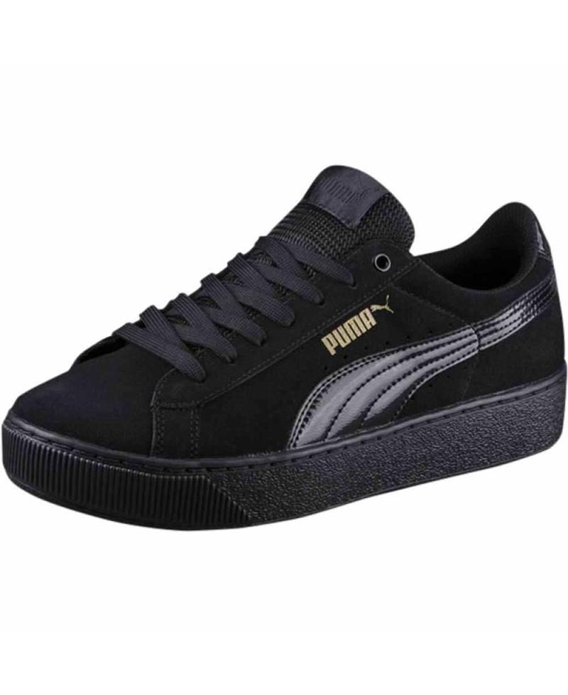 PUMA sneakers, sort lak, Vikky Platform Dame Sneakers