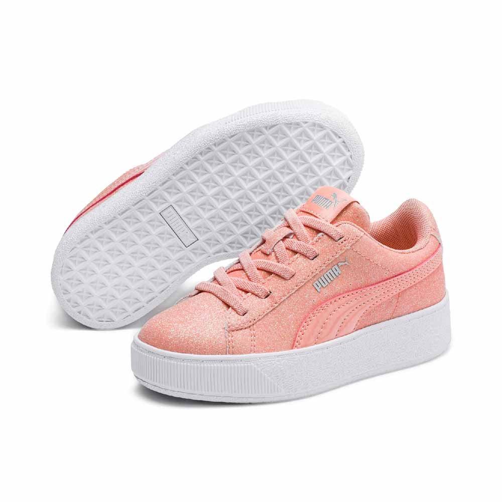 a3eb318215c Puma Vikky Platform Glitz AC P sneakers til børn str 28-35. Puma. Vi ...