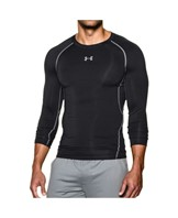 Under Armour HG LS Compression Tee Herre Sort