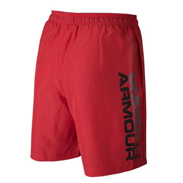 Under Armour Woven Graphic Wordmark Shorts i rød til mænd
