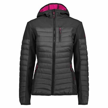 WOMAN FIX HOOD HYBRID JACKET