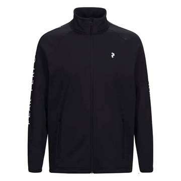 Peak Performance Rider Zip midlayer til mænd sort