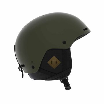 Salomon Helmet Brigade+ Skihjelm Olive Night