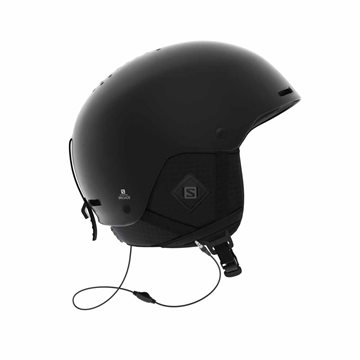 Salomon Helmet Brigade+ Skihjelm Audio All Black