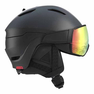 Salomon Helmet Driver Photo CD  Skihjelm Black/AW Red