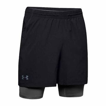 Under Armour Qualifier 2-in-1 Trænings Shorts til mænd