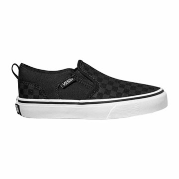 Vans YT Asher (Checker) - Ternet Slip On Sneakers til børn
